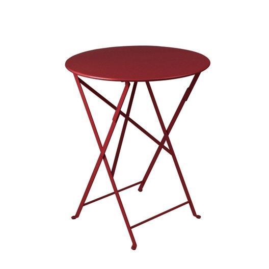 table de jardin fermob bistro rectangulaire piment 2 personnes ...