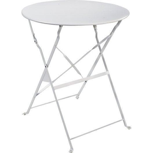 Table de jardin salon de jardin table et chaise leroy - Table de jardin ronde ...