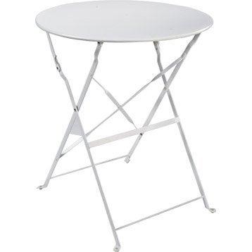 table de jardin aluminium bois r sine leroy merlin. Black Bedroom Furniture Sets. Home Design Ideas