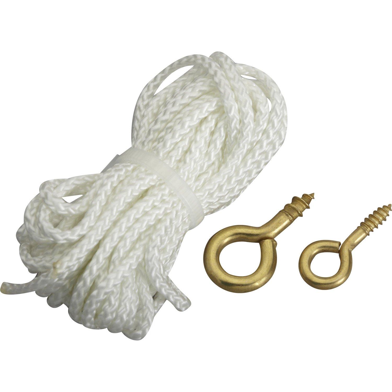 cordon de suspension cordon polyamide pour tableaux le crochet francais leroy merlin. Black Bedroom Furniture Sets. Home Design Ideas