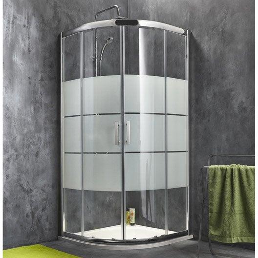 porte de douche coulissante angle 1 4 de cercle x cm optima2 leroy merlin. Black Bedroom Furniture Sets. Home Design Ideas