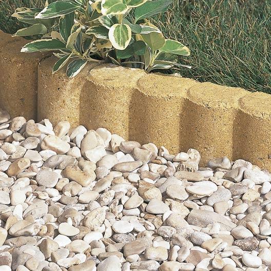 Bordure droite biface b ton jaune x cm leroy for Bordure terre cuite jardin