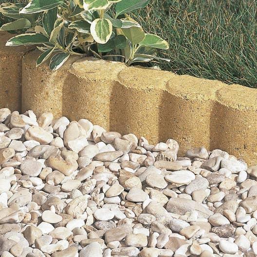 Bordure droite biface b ton ton pierre x cm leroy merlin - Pose bordure beton jardin ...