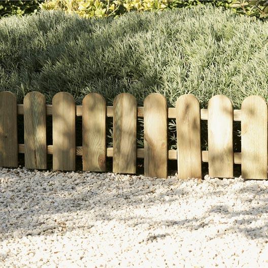 Bordure à planter Stackette bois naturel, H.30 x L.60 cm | Leroy ...