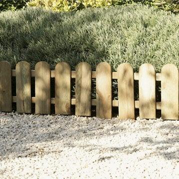 Bordure à planter Panama bois marron, H.45 x L.110 cm
