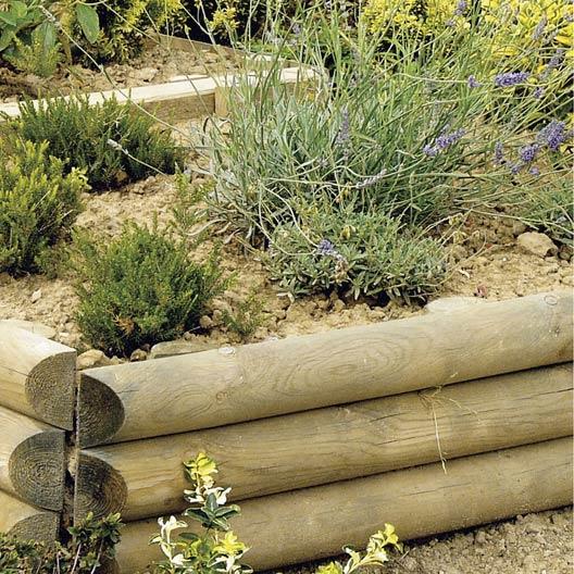 retenue de terre planter sauvage bois naturel h x l cm leroy merlin. Black Bedroom Furniture Sets. Home Design Ideas