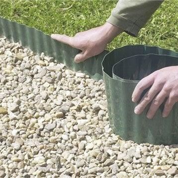 Bordure à dérouler plastique vert, H.30 x L.900 cm