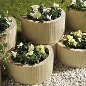 Muret floral de soutènement à planter Floralie béton ton pierre, H.20 x L.35 cm