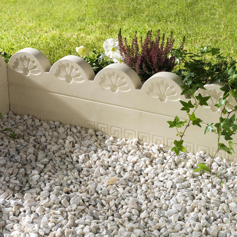 Bordure Droite Grecoflor B Ton Naturel H 25 X L 75 Cm Leroy Merlin # Bordure De Jardin Suisse