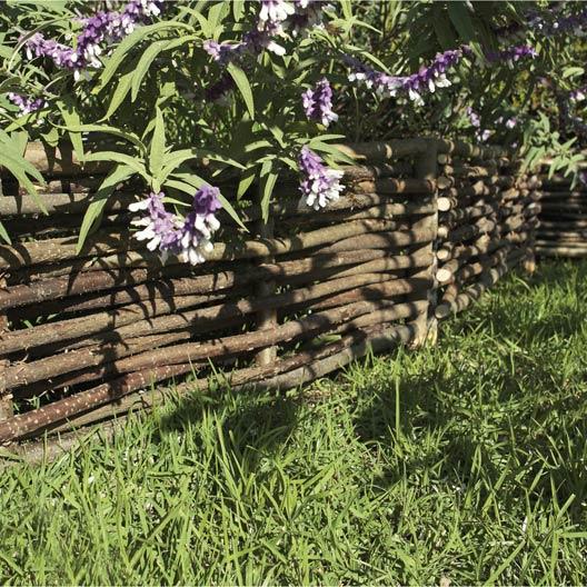 Bordure planter tresse bois naturel x cm - Arche de jardin leroy merlin ...