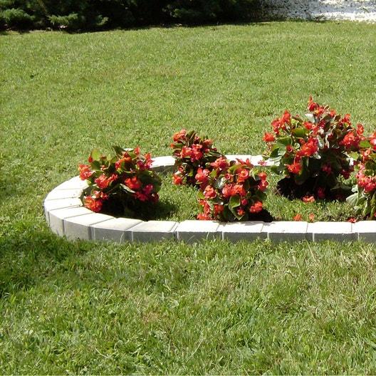 Bordure courbe seine pierre reconstitu e ton pierre for Bordure giardino leroy merlin