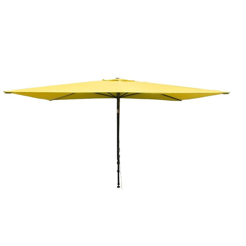 Parasol balcon Léo vert anis rectangulaire, L.300 x l.150 cm | Leroy ...
