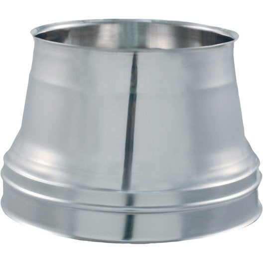C ne de finition pour sortie de toit isotip joncoux 153 mm leroy merlin - Sortie de toit pour poele a bois ...