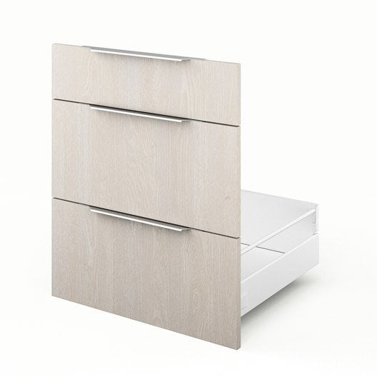 Tiroir sous vier de cuisine d cor bois 3dus60 nordik l for Evier cuisine largeur 60 cm