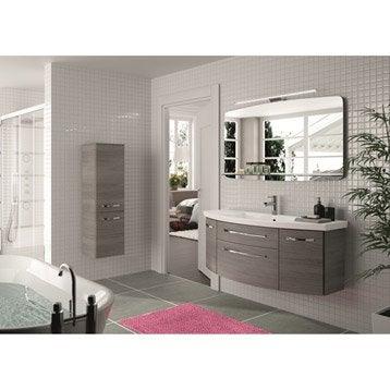 Meuble de salle de bains plus de 120 gris argent image for Meuble concept plus