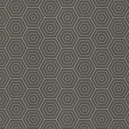 Papier Peint Hexagone Gris Anthracite Et Or Intisse Shine Leroy Merlin
