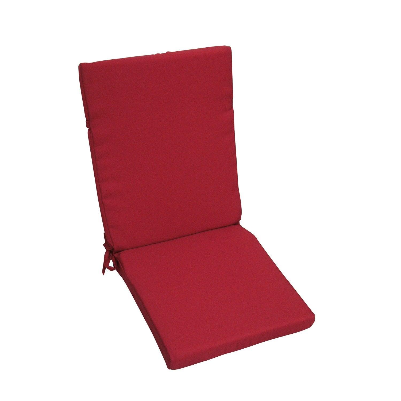 coussin d 39 assise de chaise ou de fauteuil rouge carmin. Black Bedroom Furniture Sets. Home Design Ideas