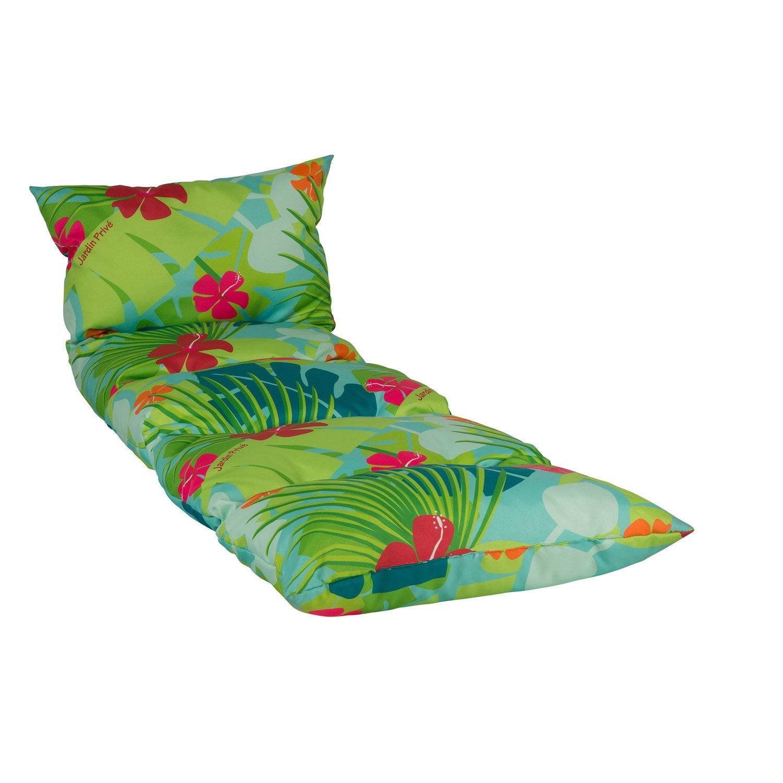 coussin de bain de soleil multicolore jungle 188 leroy. Black Bedroom Furniture Sets. Home Design Ideas