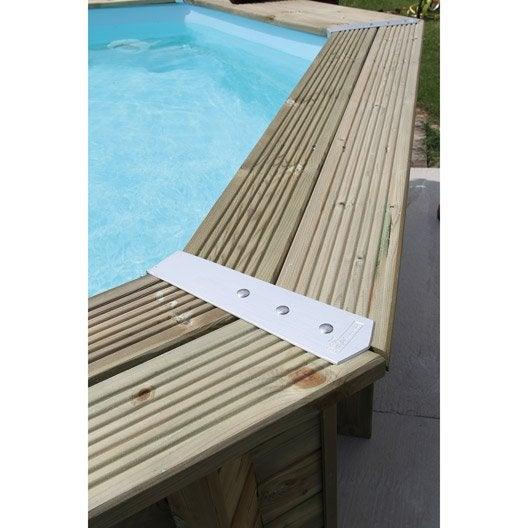 piscine hors sol bois samoa xl l x l x h 1 3 m leroy merlin. Black Bedroom Furniture Sets. Home Design Ideas