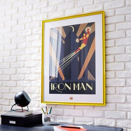 cadre pep 39 s 60 x 80 cm jaune leroy merlin. Black Bedroom Furniture Sets. Home Design Ideas