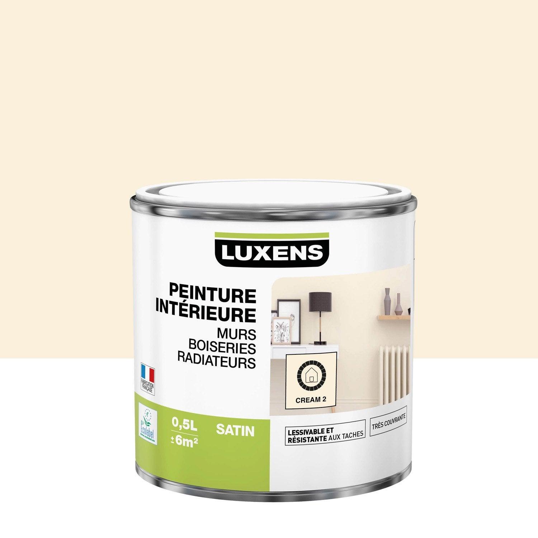 Peinture mur, boiserie, radiateur toutes pièces Multisupports LUXENS, cream 2, s