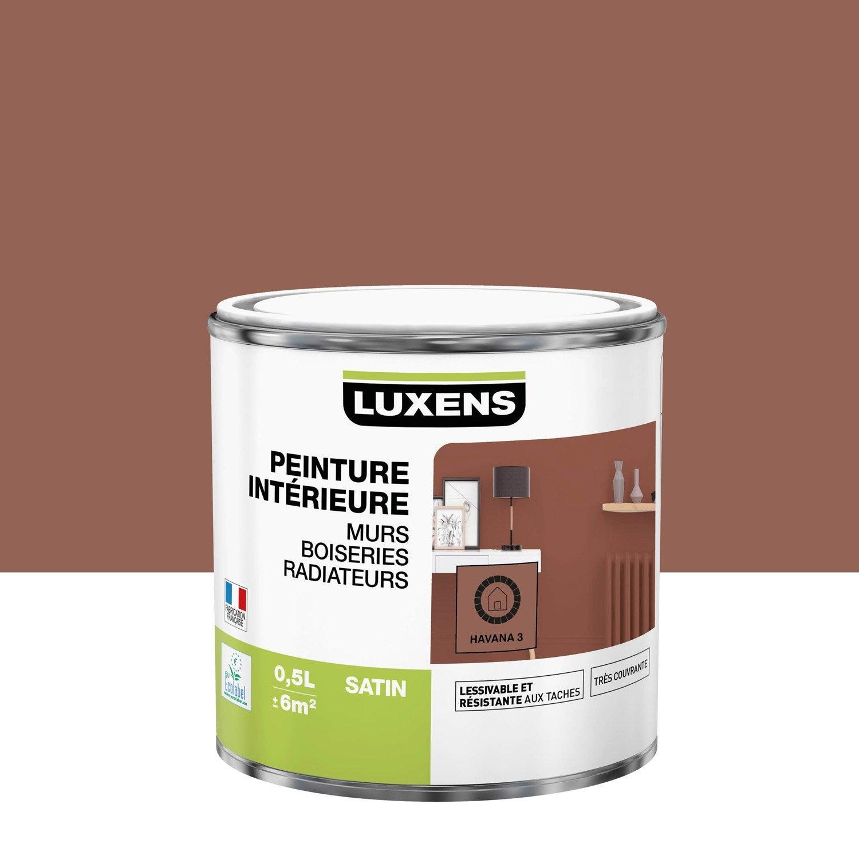 Peinture mur, boiserie, radiateur LUXENS, havana 3 0.5 l, satin