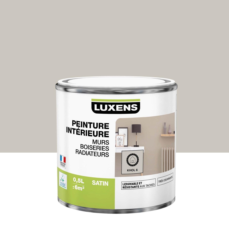 Peinture mur, boiserie, radiateur LUXENS, khol 6 0.5 l, satin