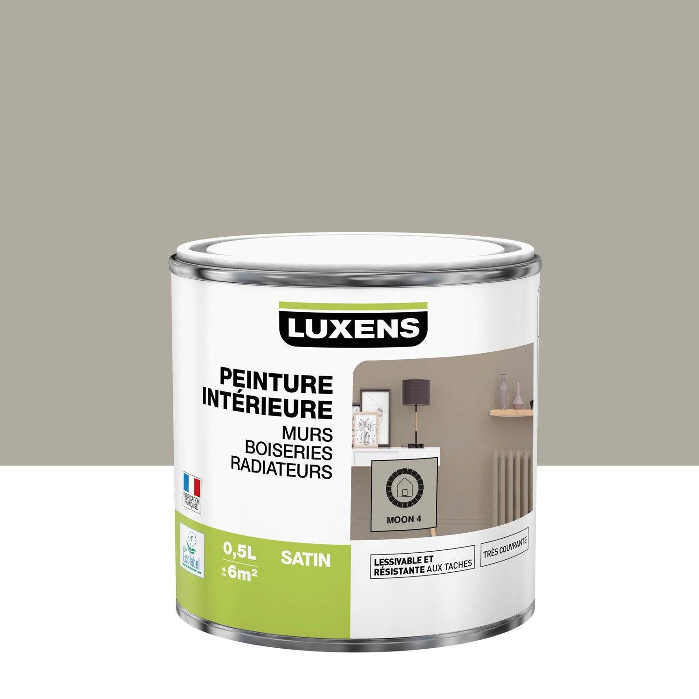 Peinture mur, boiserie, radiateur Multisupports LUXENS moon 4 satiné 0.5 l