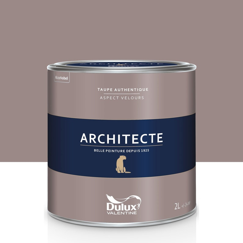 Peinture Taupe Authentique Velours Dulux Valentine Architecte 2 L