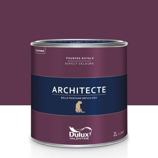 peinture pourpre royale velours dulux valentine architecte 2 l leroy merlin. Black Bedroom Furniture Sets. Home Design Ideas