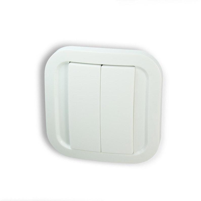Interrupteur Mural Connecté 1 Et 2 Boutons Sans Fil Sans Pile Nodon