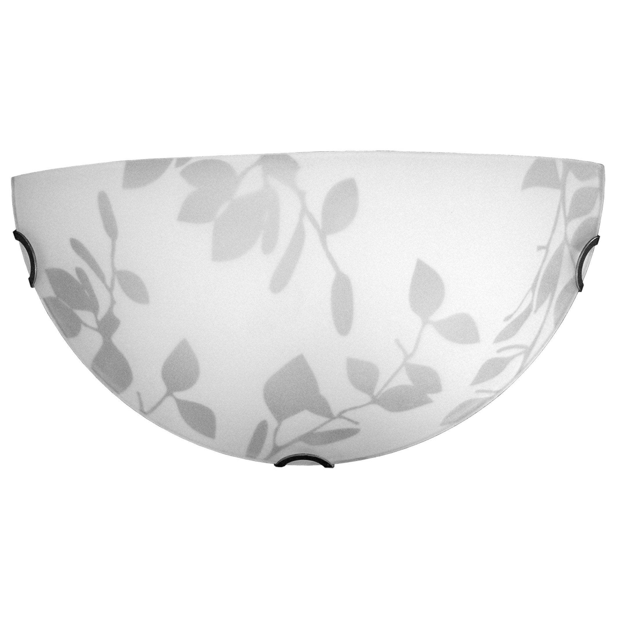 Lumicom Blanc s 1 AppliqueModerne Lumière Verre Flower xCedBo