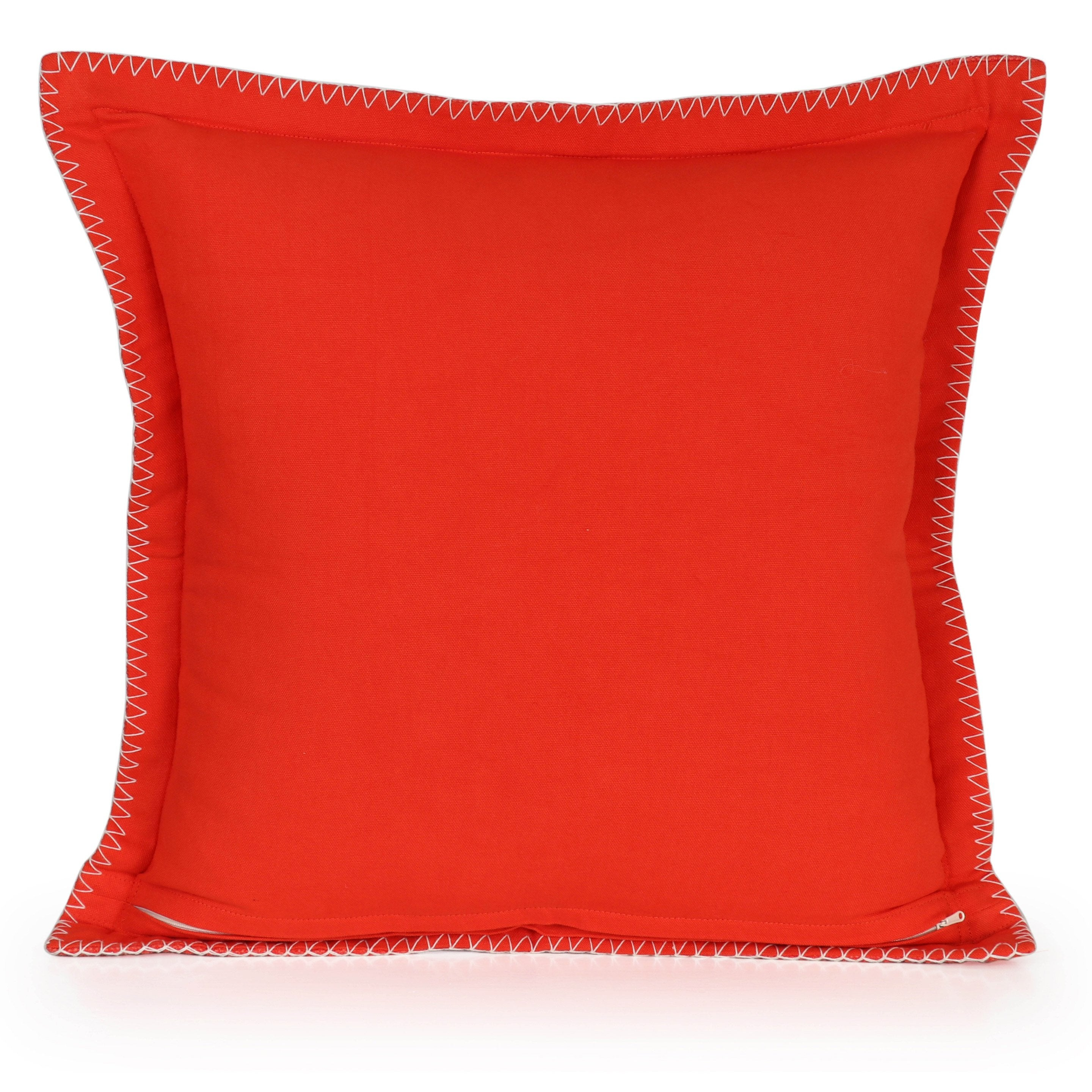 Coussin Nathalie INSPIRE, rouge chili l.45 x H.45 cm