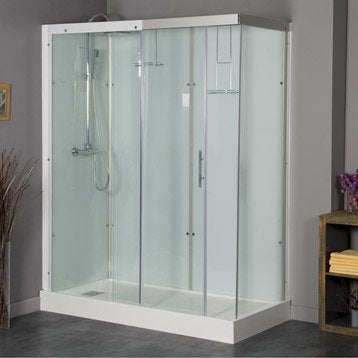 Cabine de douche rectangulaire 170x80 cm, Thalaglass 2 thermo