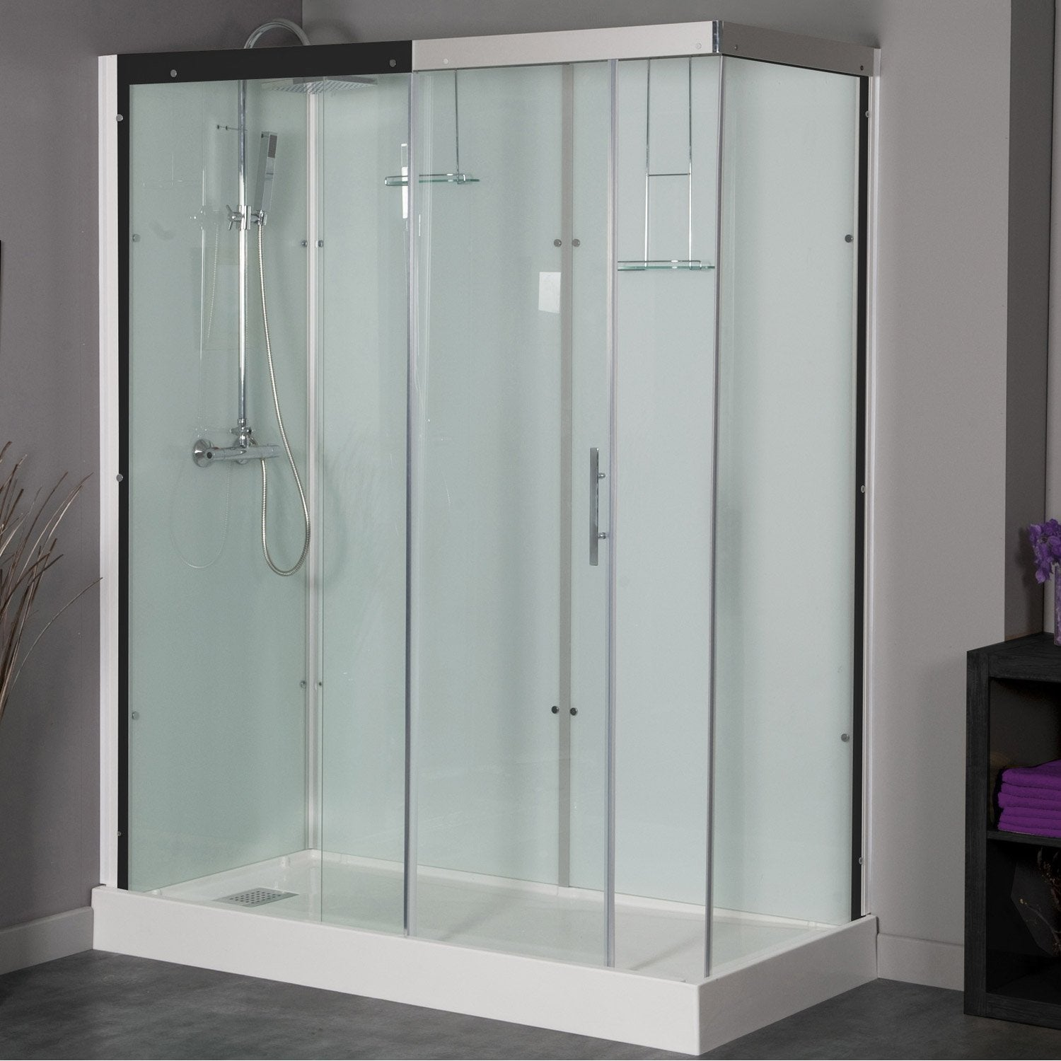 Cabine de douche rectangulaire 160x80 cm, Thalaglass 2 thermo ...