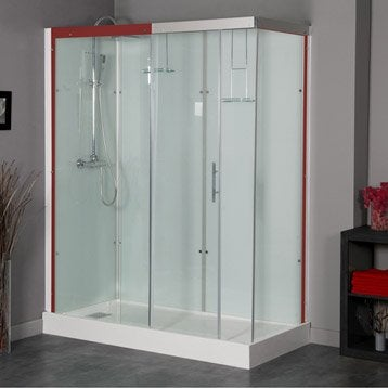 Cabine de douche Thalaglass 2 simple thermostatique rectangulaire 90x120cm