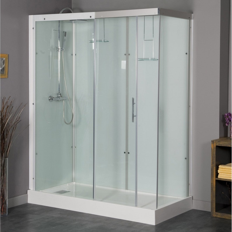 Cabine De Douche Rectangulaire 120x90 Cm Thalaglass 2 Thermo