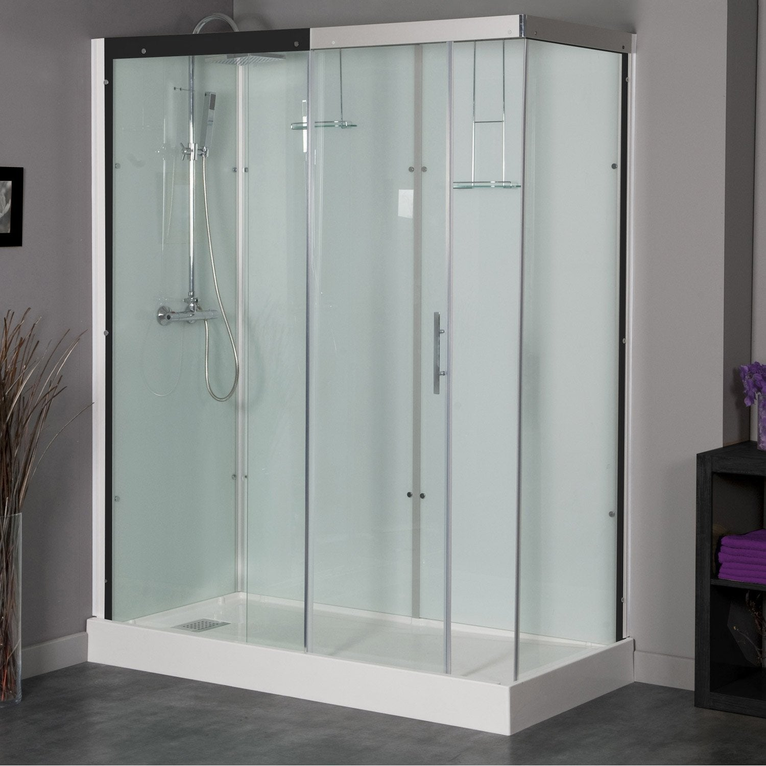 Cabine de douche rectangulaire 180x80 cm, Thalaglass 2 thermo ...