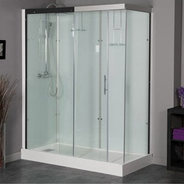 Cabine de douche Thalaglass 2 simple thermostatique rectangulaire 80x180cm