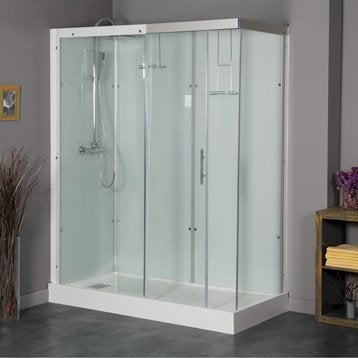 Cabine de douche rectangulaire 180x80 cm, Thalaglass 2 thermo