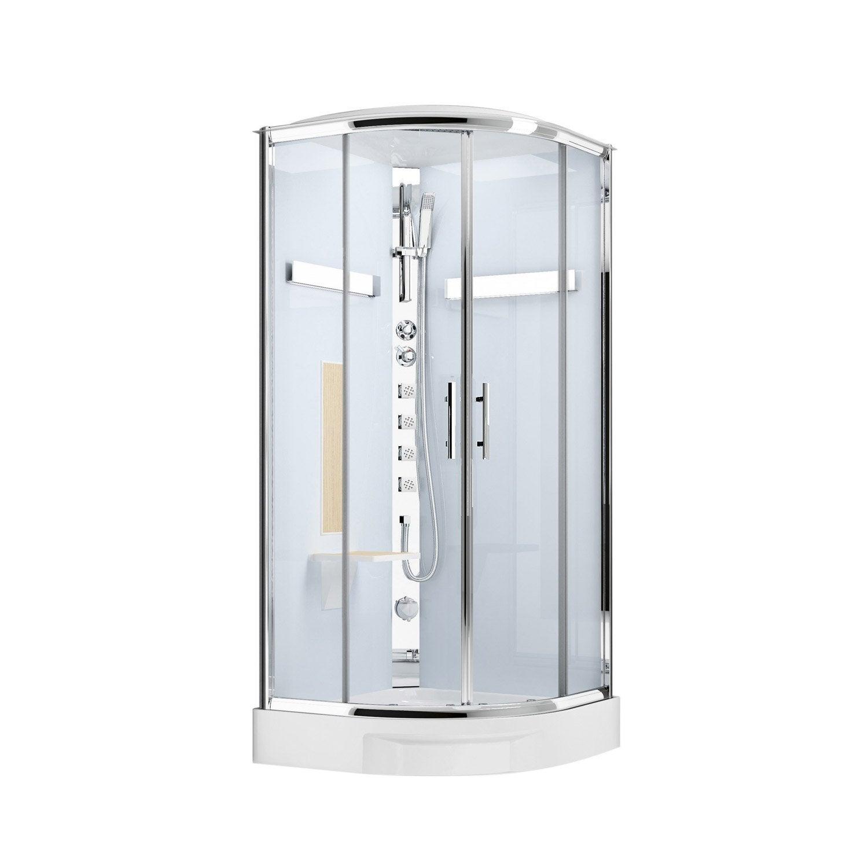 Cabine de douche 1/4 de cercle 90x90 cm, Ilia chêne | Leroy Merlin