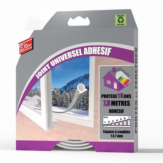 Joint de porte et fen tre universel ellen de 1 7 mm x 7 - Joint de frigo universel ...