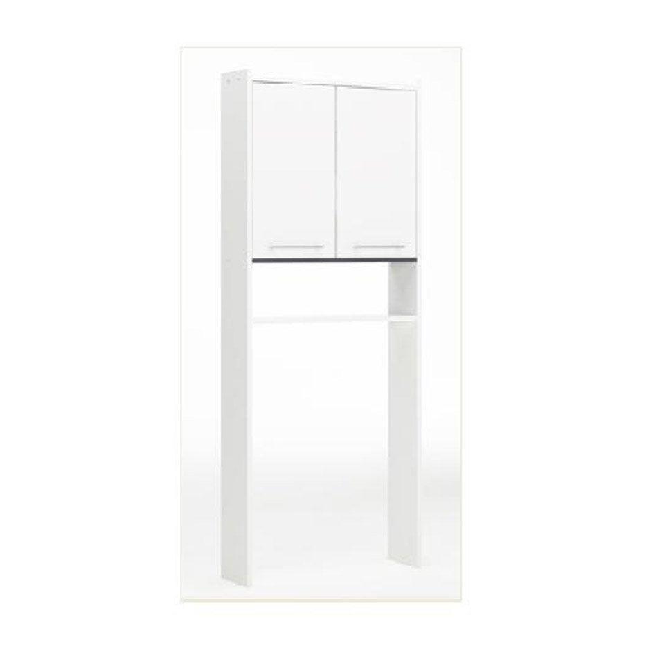 meuble pour wc poser l600 x h1820 x p16 cm blanc nerea - Armoire Rangement Leroy Merlin