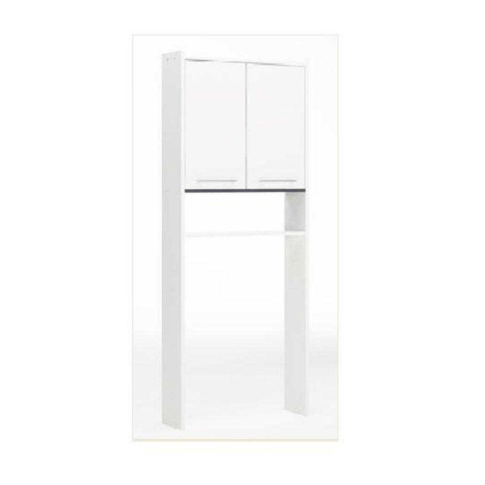 Meuble Salle De Bain Dessus Toilette ~ meuble pour wc poser l 60 0 x h 182 0 x p 16 cm blanc nerea