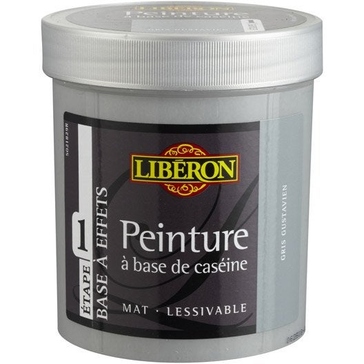 Peinture à effet Base caséine LIBERON, gris nuée, 0.5 L
