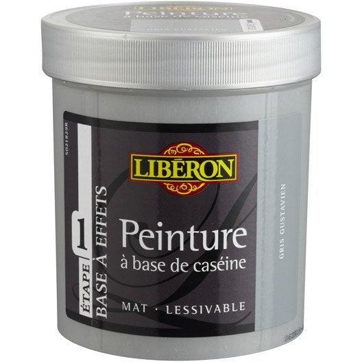 Peinture à effet Base caséine mat profond LIBERON, gris nuée, 0.5 l