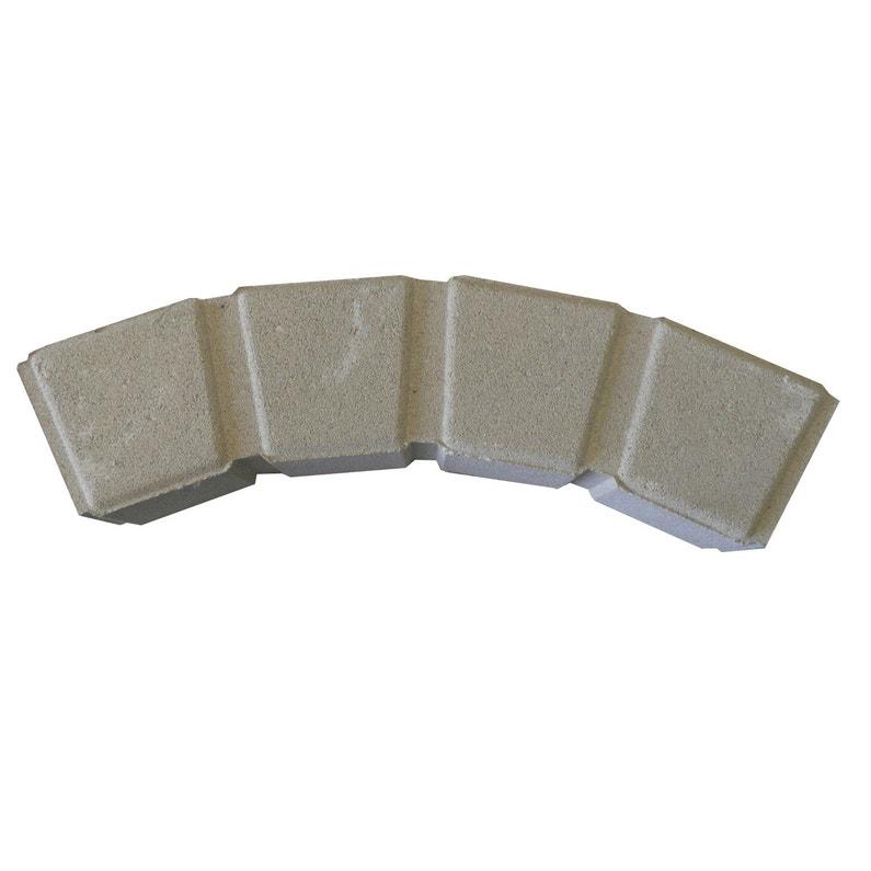 Plus adapté Bordure courbe Seine pierre reconstituée ton pierre, H.11 x L.50 AX-39