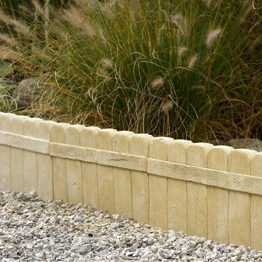 Bordure droite alp ge b ton naturel h 25 x l 50 cm leroy for Bordure terre cuite jardin