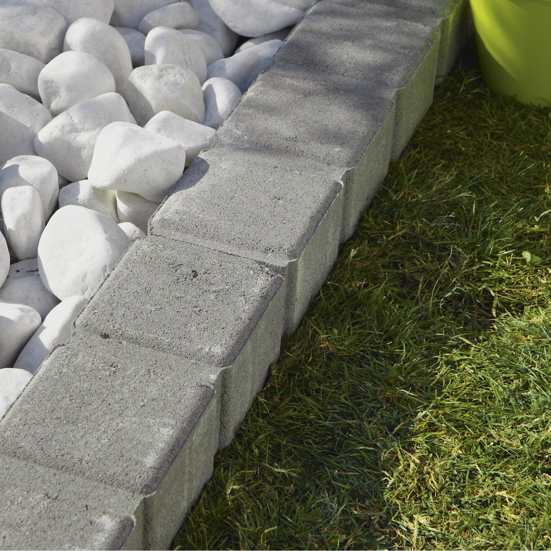 bordure droite seine pierre reconstitu e gris x cm leroy merlin. Black Bedroom Furniture Sets. Home Design Ideas
