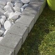 Bordure droite Seine pierre reconstituée gris, H.11 x L.50 cm